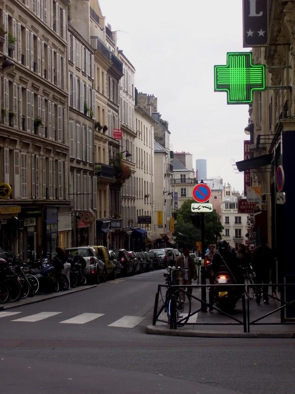 Montparnasse vue de la rue victor Massé