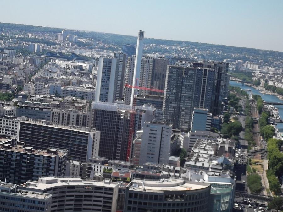 Le Front de Seine vu de la Tour Eiffel