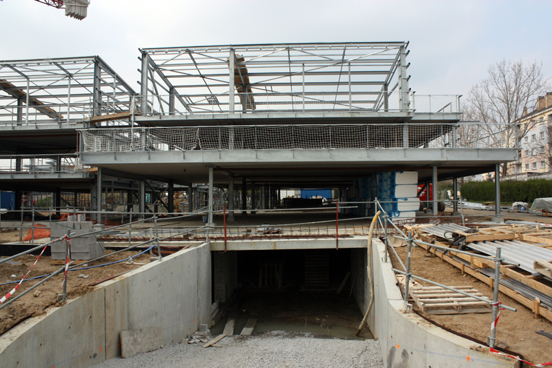Le chantier mi-avril 2010