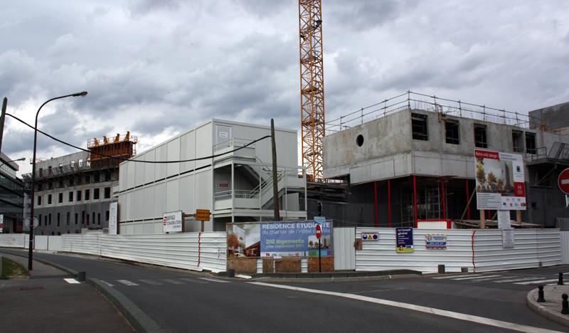 Le chantier début octobre 2010