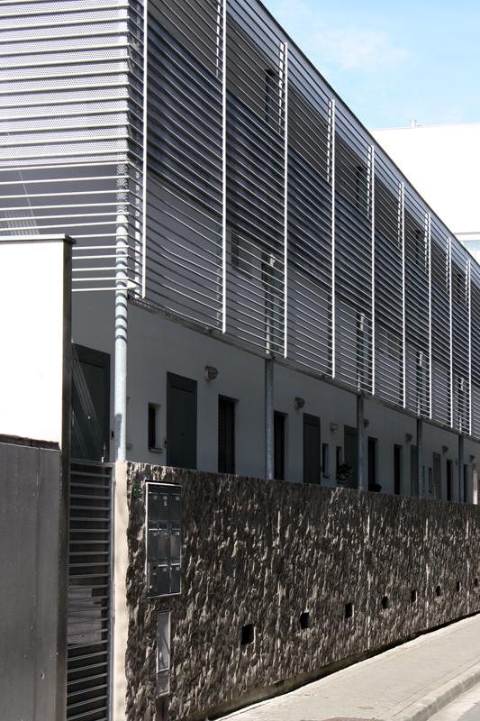 Détail de la façade sur l'allée Stendhal